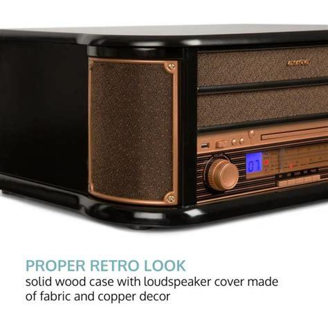 tv möbel retro auna epoque 1908 retro stereo syst 233 m gramofon