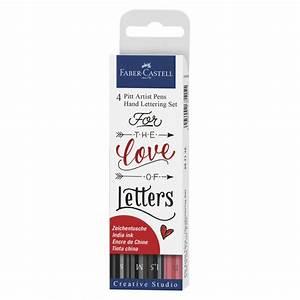 love letters pitt hand lettering 4 pen set faber castell With faber castell hand lettering kit