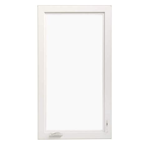 thermastar  pella  lite vinyl  construction egress white casement window rough opening
