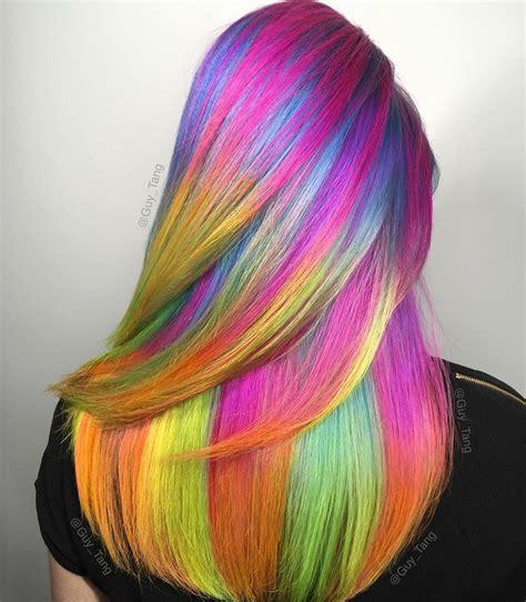 Rainbow Unicorn Hair Fashion Hair Colors Pinterest