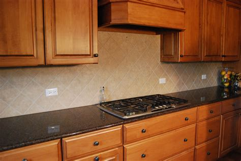 Black Tin Backsplash : Cherry Kitchen Cabinet Design With Kitchen Hood And Cream