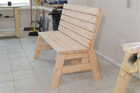 build  comfortable  bench  side table jays