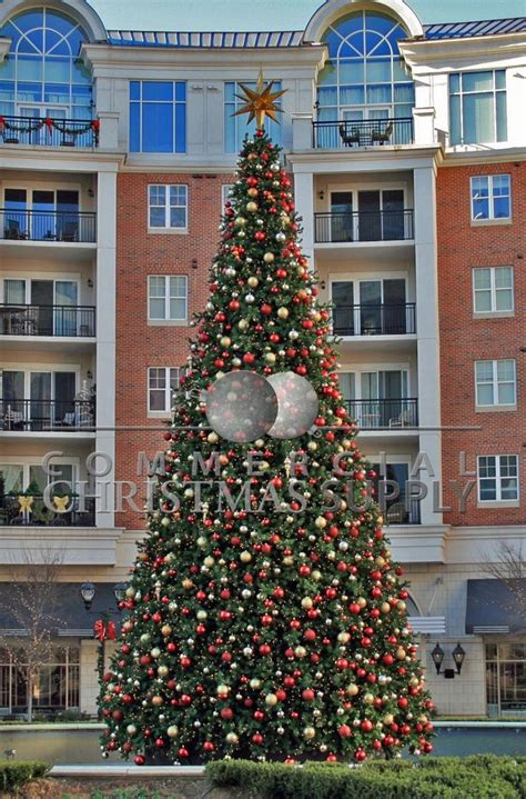 giant decorated tree alternating ornaments commercial