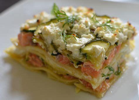 cuisiner saumon frais lasagnes aux courgettes et au saumon recette lasagne