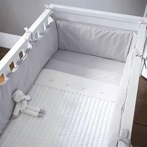 Tour De Lit Gris : tour de lit entier 70x140 cm mixte gris blanc jacadi paris baby girl pinterest tour ~ Teatrodelosmanantiales.com Idées de Décoration
