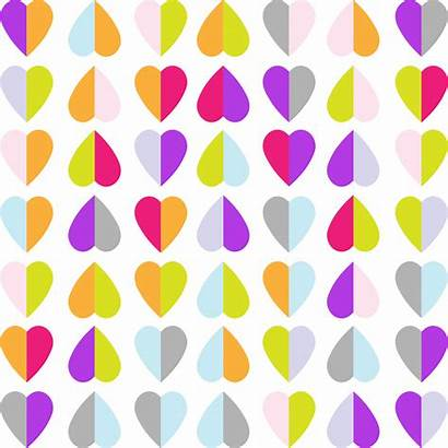 Colorful Hearts Pattern Background Clipart Backgrounds Heart