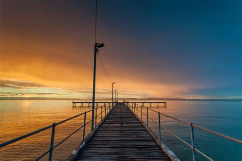 fishing pier  sunset  duncanco