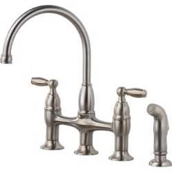 lowes delta kitchen faucets shop delta dennison stainless 2 handle high arc deck mount kitchen faucet at lowes