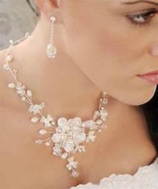 pearl wedding ring sets envogue freshwater pearl wedding necklace earring bridal jewelry set 2065432 weddbook