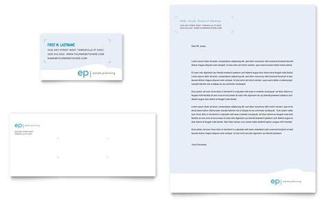 estate planning business card letterhead template design