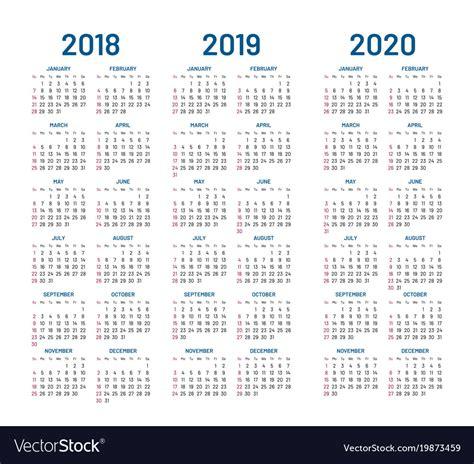 year calendar royalty vector image