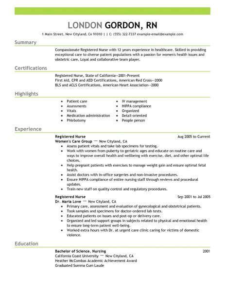 best registered resume exle livecareer