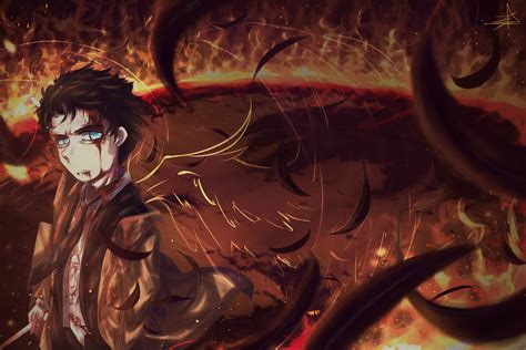 Anime Vire Boy Wallpaper - 4500x3000 anime boy black wings feathers