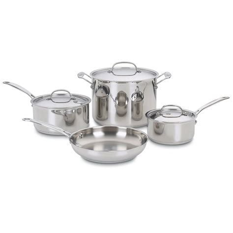 cookware safe oven steel stainless piece cuisinart