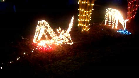 hunter shooting deer christmas lights youtube