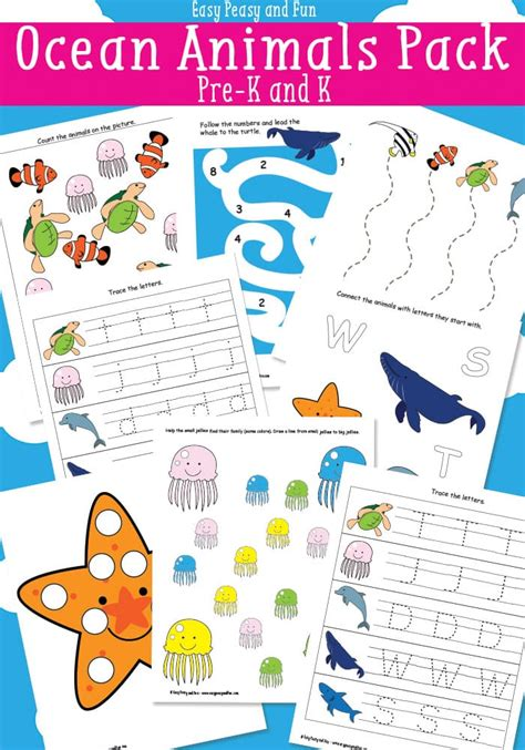 animals printables for easy peasy and 542 | Free Ocean Animals Printables for Preschool and Kindergarten