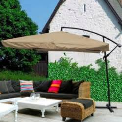 deluxe 9ft 8 ribs sun shade pool side patio offset hanging