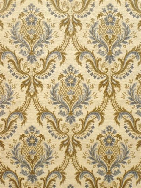 Vintage retro baroque wallpaper from the '60s   Vintage