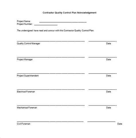 contractor quality plan template 7 quality plan template word pdf free premium templates