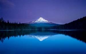 Blue, Mountain, Lake, Reflection, Forest, Oregon