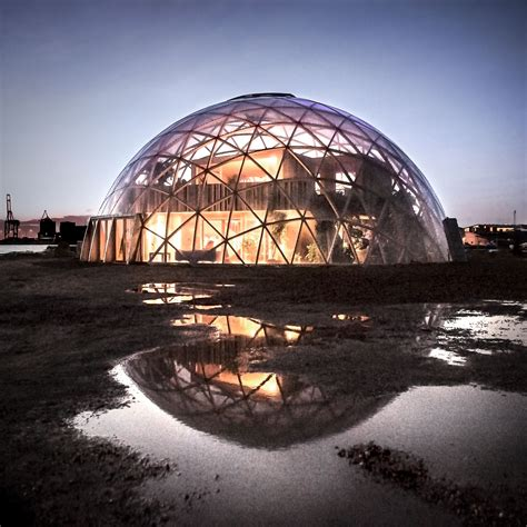 wooden dome  visions   sustainable building material