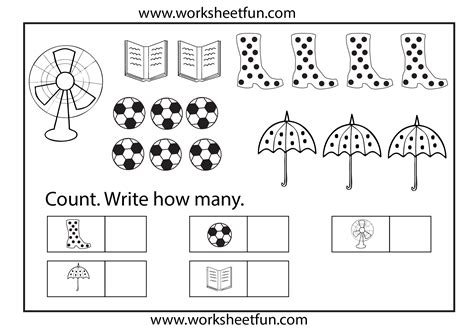 6 Best Images Of Kindergarten Printable Counting 1 10 Worksheets  Counting Numbers 1 10
