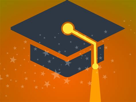 Graduate Background School Graduation Backgrounds Black Educational Orange