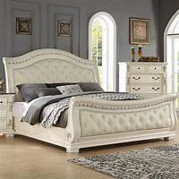 upholstered sleigh bed Fairfax Home Collections Alexandra Upholstered Sleigh Bed ...