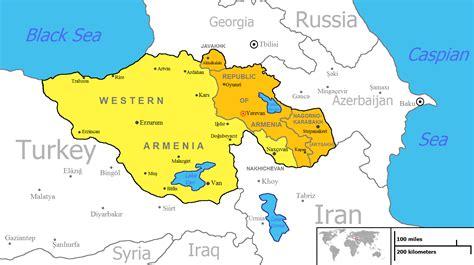 map  armenia pre