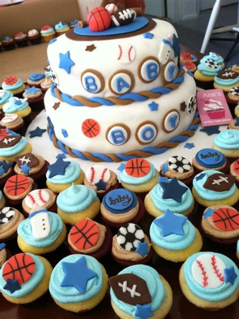 sports themed baby shower cakecentralcom