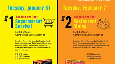 Two-part 'Eat This, Not That' program begins Jan. 31 ...