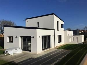maison feng shui contemporaine en vendee avec etage pres With amenagement exterieur maison neuve 15 couverture bac acier