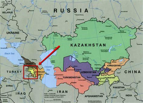 map  armenia  surrounding countries