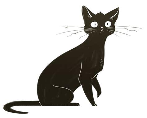 black cat drawing ideas  pinterest black