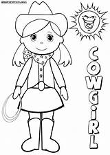 Cowgirl Coloring Pages Colorings Coloringway sketch template