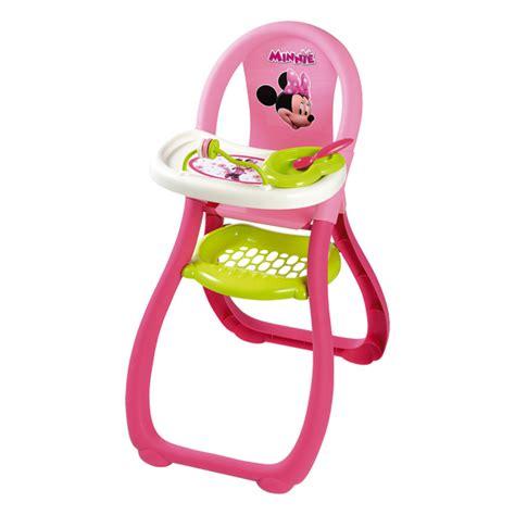 siege pour manger bebe chaise haute minnie smoby king jouet accessoires de