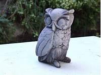 owl garden statue Owl Concrete Garden Statue Cement Animal Figure Cast Stone ...