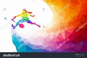 sports day poster template - badminton sport invitation poster flyer background stock