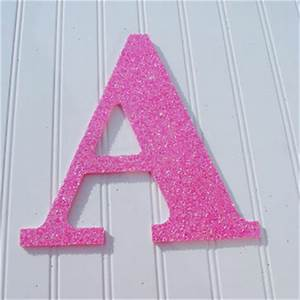 Best glitter wall letters products on wanelo for Pink glitter letters