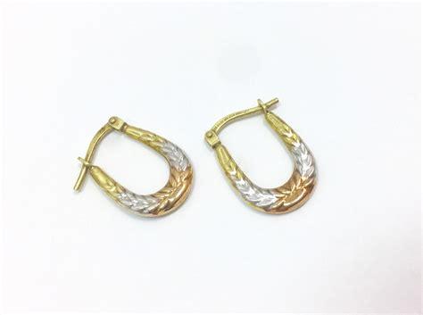 color hoop small modern tri color hoop earrings sterling