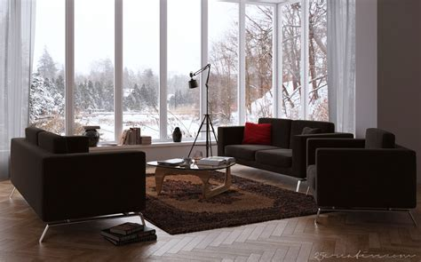 chocolate brown decorating ideas 25creative chocolate living room with windowed wall