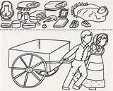 Pioneer Handcart Clipart Children Coloring Pages Lds Clip Happy Trek Template Printables Cart Primary July Pioneers American Cliparts Walk Activities sketch template