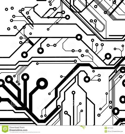 Seamless Printed Circuit Board Stock Vector Illustration