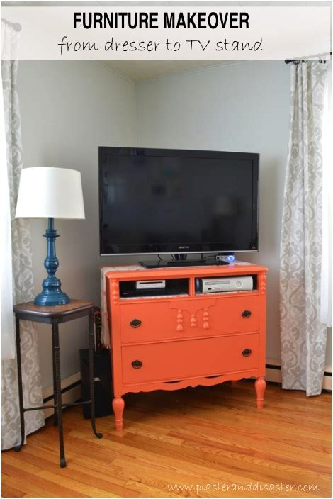 turning a dresser into a tv stand furniture makeover from dresser to tv stand plaster