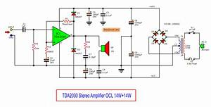 Tda2030 Stereo Amplifier Circuit With Pcb