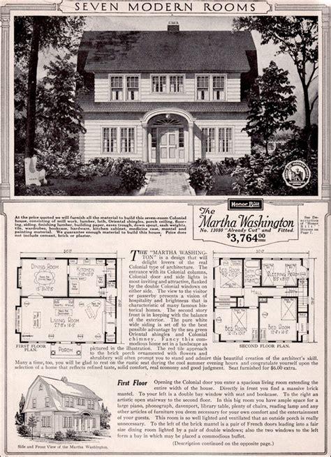 martha washington dutch colonial revival kit house plan  sears home honor built