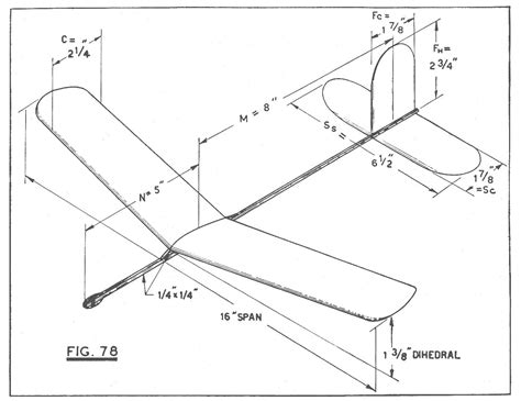 plans schematics  balsa wood glider  plans
