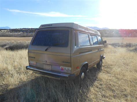 volkswagen vanagon 1986 vw vanagon westfalia poptop cer classic
