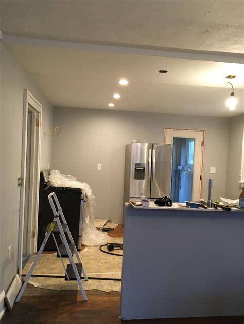 behr silver bullet dining room renovation grey