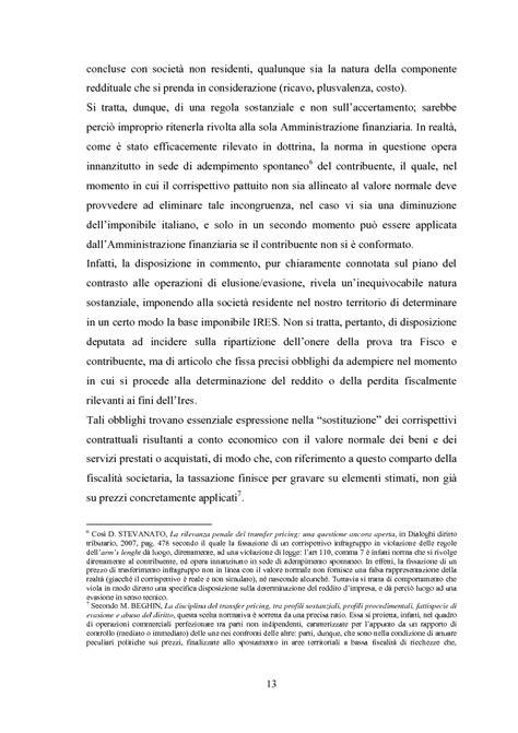 Transfer Pricing Interno Il Transfer Pricing Interno Analogie E Criticit 224 Rispetto